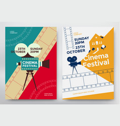Cinema festival poster vector