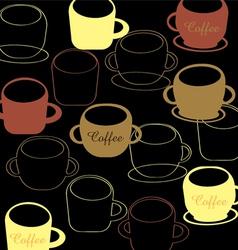 coffee mug pattern vector image vector image