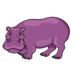 Cute cartoon hippopotamus vector image vector image