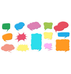 different color and design of speech bubbles vector image