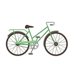 green female bicycle frame with a scythedifferent vector image