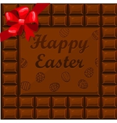 Happy easter chocolate vector