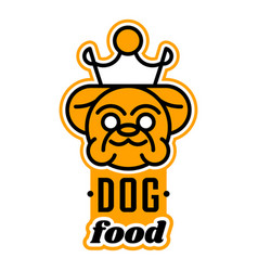 Logo on the theme of food for dogs english vector