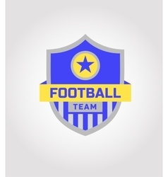 Logo template soccer football team vector