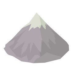 mountain icon isometric style vector image vector image