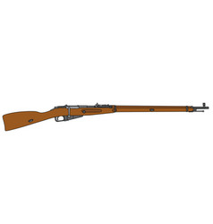 Old long military rifle vector