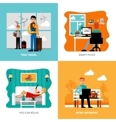 Preferences of freelance set vector