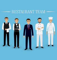 Restaurant team concept group of characters vector