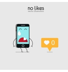 Sad not received mobile likes vector