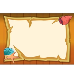 shell star fish and map vector image vector image