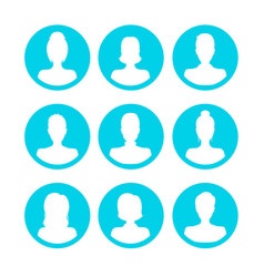 silhouette white avatars people man and woman icon vector image