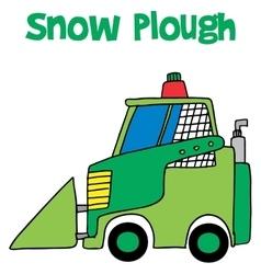 Snow plough collection art vector