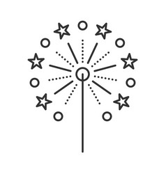 sparkle thin line vector image