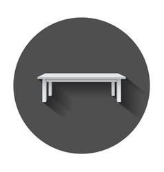 Table for object presentation empty white top vector