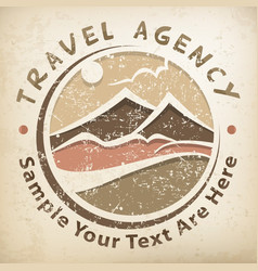 Travel logo grunge vector