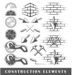 vintage construction elements vector image