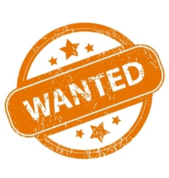 Wanted grunge icon vector image