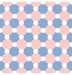 White Polka dot Chess Board Grid Rose Quartz vector image vector image