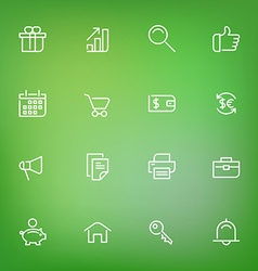 White thin line icons set for web and mobile on vector image