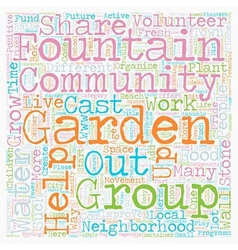 Community gardens can change lives text background vector