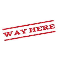 Way here watermark stamp vector