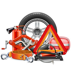 car accessories concept vector image
