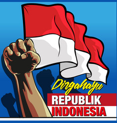 dirgahayu republik indonesia vector image
