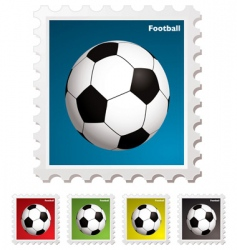 football world stamp vector image