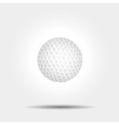 Golf ball on white background with shadow vector