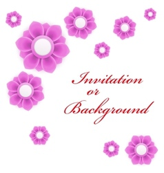 Greeting card or background with light pink flower vector