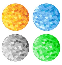 Abstract tile circles vector