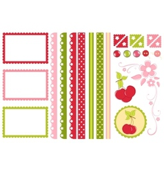 Scrapbook elements decors vector