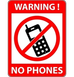 No phone telephone prohibited symbol vector