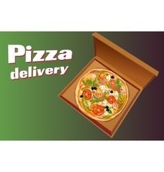 Pizza italian background vector image