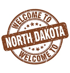 Welcome to north dakota vector