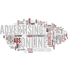 Are online ads worth the cost text background vector