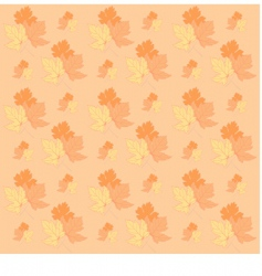 autumn leafs texture vector image vector image