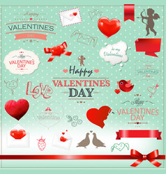 big set valentines day collection vector image vector image