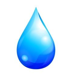 Blue drop vector image