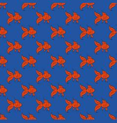 Cartoon gold fish vector