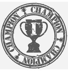 Champion stamp vector