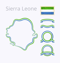 Colors of Sierra Leone vector image vector image