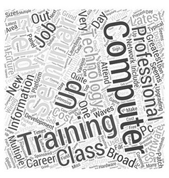Computer it training word cloud concept vector