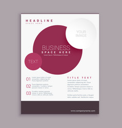 Corporate business brochure flyer design with vector