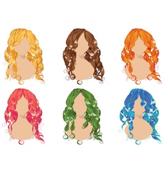 Curly hair styles2 vector