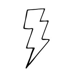 Doodle for design lightning vector