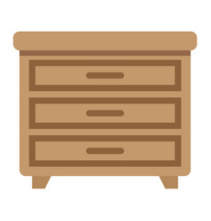 Drawer unit flat icon furniture and interior vector