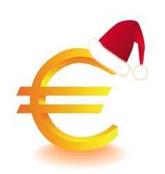 euro currency xmas vector image vector image