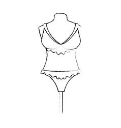 female underwear on mannequin vector image vector image