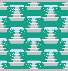 Fountain seamless pattern vector